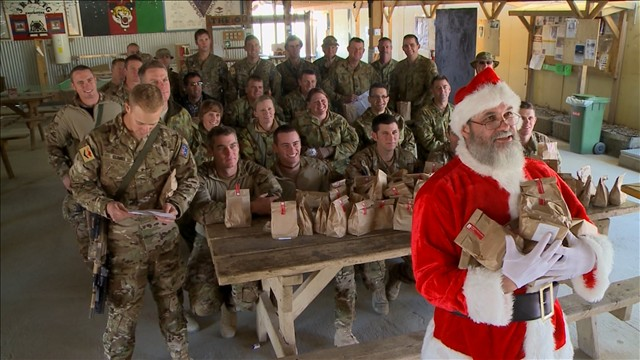 Presents for troops