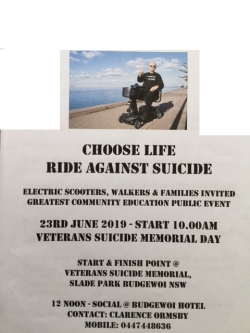 WALK AND RIDE AGAINST SUICIDE